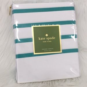 🆕♠️Kate Spade NY  Harbour Stripe Shower Curtain